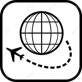 Airplane travel vector icon